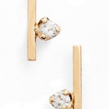 Zoë Chicco Floating Diamond Stud Earrings | Nordstrom