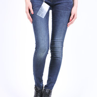 G-Star Raw Lynn Zip Mid Skinny Yent Stretch Denim (Dark Aged)
