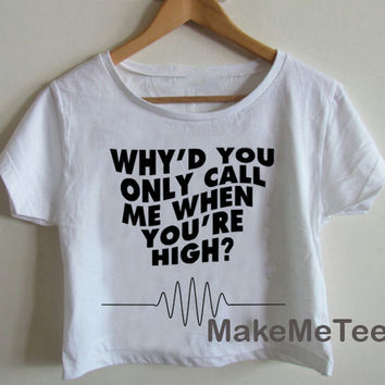 New Arctic Monkeys Band Printed Crop top Tank Top Women Black and White Tee Shirt - MM5