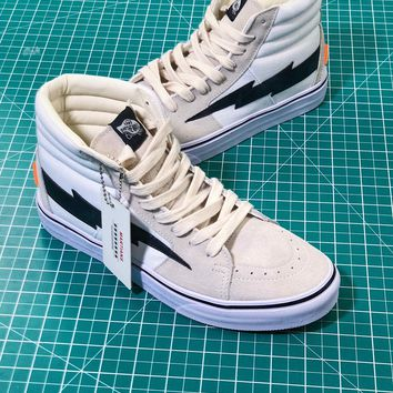 Off White X Revenge X Storm X The Remade X Vans Sk8 Hi Sneakers - Best Online Sale