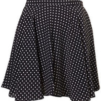 Navy Circle Polka Skirt By Boutique - Flippy Skirts - Skirts - Topshop USA