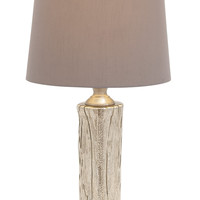 Contemporary Styled Glass Stainless Steel Table Lamp