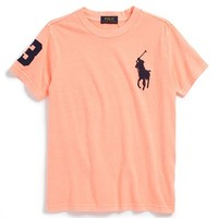 Toddler Boy's Ralph Lauren Logo Neon T-Shirt