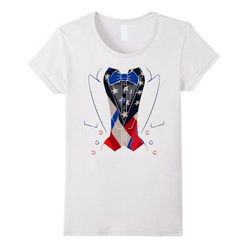 Fourth of July American Tuxedo Party BBQ T-Shirt