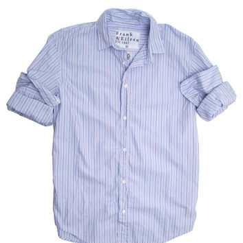 Frank & Eileen Paul Blue and Pink Multi Stripe Poplin Shirt