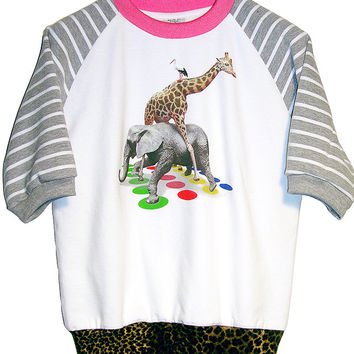 Exotic Animals Play Twister Sweatshirt Top