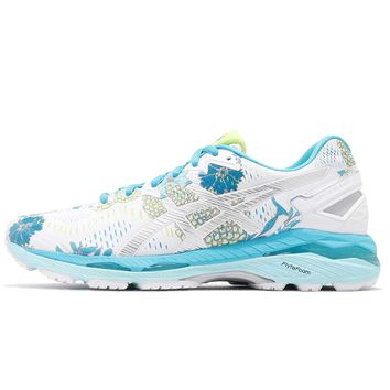 ASICS Women's Gel-Kayano 23, White/Silver/Aquarium