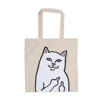 OG Lord Nermal Tote Bag (Natural Canvas) | RIPNDIP