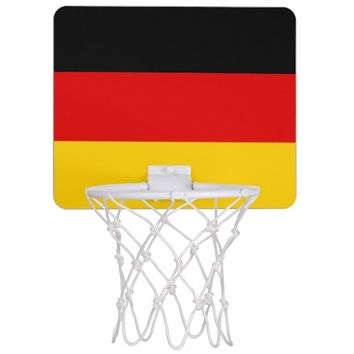 Black Red Gold Stripes Mini Basketball Hoop