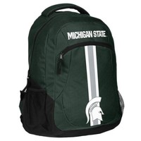 * Michigan State Spartans Action Backpack School Book Bag *