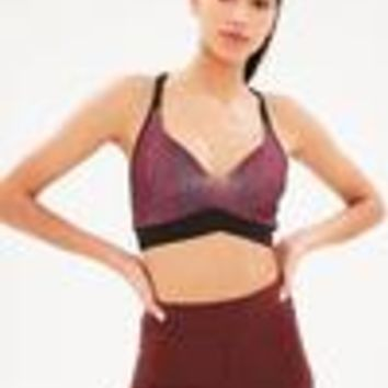 Missguided - Active Burgundy Snake Sports Bra