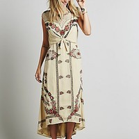 Free People Womens FP New Romantics Tie Knot Dress - Natural
