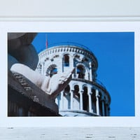 Pisa Photo Greeting Card, Leaning Tower of Pisa, Piazza Dei Miracoli, Fine Art Photography, Italian Travel Photography, Any Occasion Card