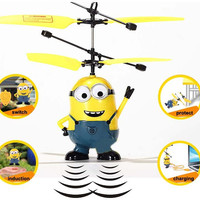 Toys dolls Minions toys RC helicopter Action  Flying fairy Drones