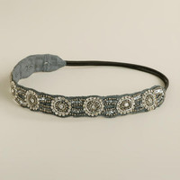 Gray Rhinestone Circles Headband | World Market