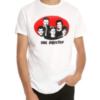One Direction Pop Red Oval T-Shirt