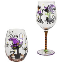 Drink Up Witches Painted Stemware