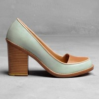Block Heel Pumps | Mint | & Other Stories