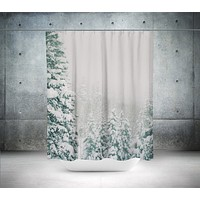 Colorado Snow Storm Shower Curtain