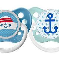 Nautical Pacifier Set - Anchor Pacifier - Sailor Hat Pacifier - Navy Pacifier - Custom Pacifier - Unique Baby Gift - Boy Pacifier - NUK Paci