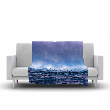 "Colin Pierce ""Falling Sky"" Blue Lavender Photography Fleece Throw Blanket"