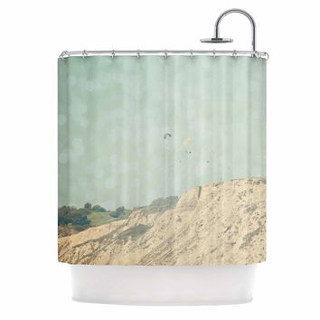 "Sylvia Coomes ""West Coast 2"" Pastel Coastal Shower Curtain"