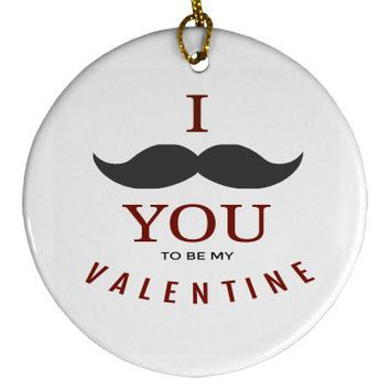Love Valentine Round Ornament