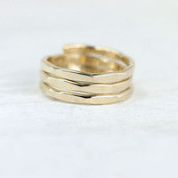 Coiled spring ring in gold or silver