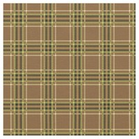 Golden Brown Plaid Pattern Fabric