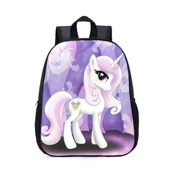 Girls bookbag QOKR my little pony cartoon bookbags for primary school students bookbags rucksacks 3-8 years old girls backpacks AT_52_3