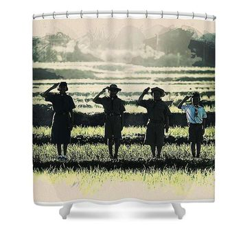Scout Boys Of Tropics - Shower Curtain