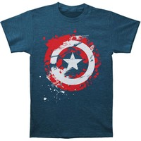 Captain America Men's  Captain Logo Paint T-shirt Heather