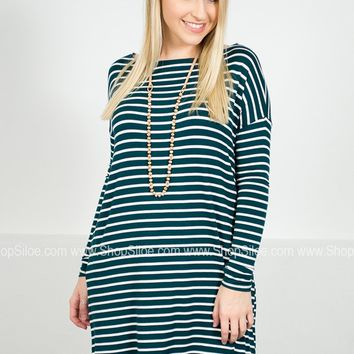 Stripes of Love Pocket Dolman Tunic | Colors