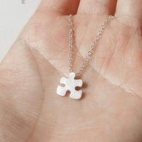 Sterling Silver Jigsaw Puzzle Neckl.. on Luulla