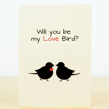 LOVE card - romantic cards, valentines card, love you card, valentine card him, valentine card her, hand made greeting cards, love birds