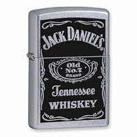 Zippo Jack Daniels Label Street Chrome Lighter