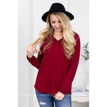 Ruby Red Crimson Top
