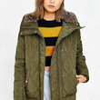 Levis Quilted Fur-Hood Jacket - Urban Outfitters