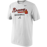 Nike Atlanta Braves White Home Practice T-Shirt