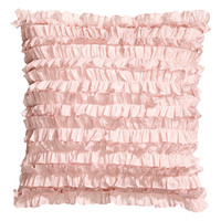 H&M - Ruffled Cushion Cover - Light pink