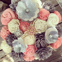 8 Small and 1 Medium Paris Bouquet :: Remove Pink Sola Wood Flowers and Replace with Lavender Sola Wood Flowers :: NO SCENT