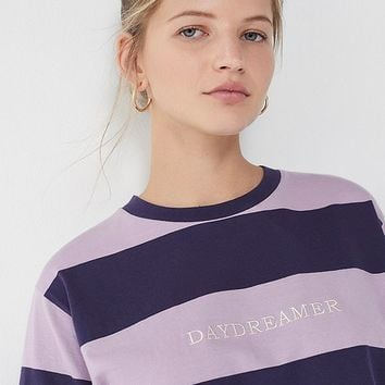 Daydreamer Striped Crew-Neck Tee | Urban Outfitters