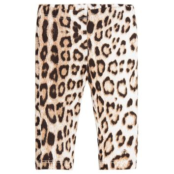 Cavalli Girls Leopard Leggings