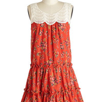 ModCloth Boho Mid-length Sleeveless Sack Far Field Charm Dress