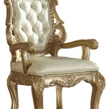 Bennito French Provincial Gold Dining Arm Chair (set of 2)