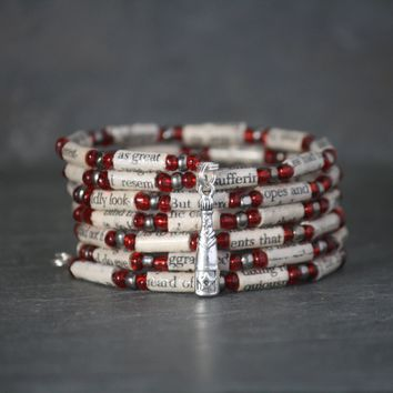 A Tale of Two Cities Book Bead Charm Bracelet