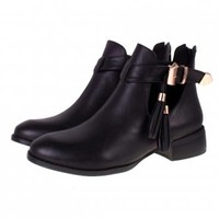 BEBO Cut Out Boots  Ladies Ankle Boots   Black Cut Out Boots
