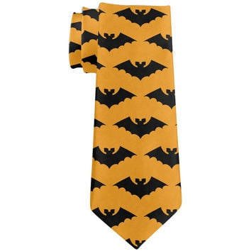 Halloween Bats All Over Neck Tie