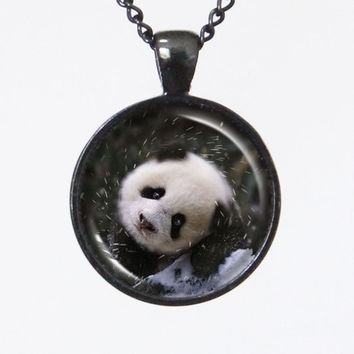 Cute Animal Necklace- Baby Panda Beer- Animal Series