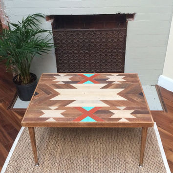 Reclaimed Lath Wood Coffee/Accent Table